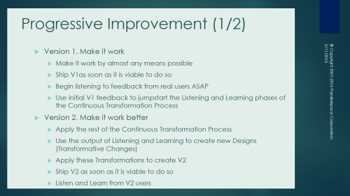 Progressive Improvement A 1-0-1