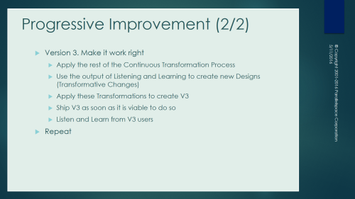 Progressive Improvement B 1-0-1