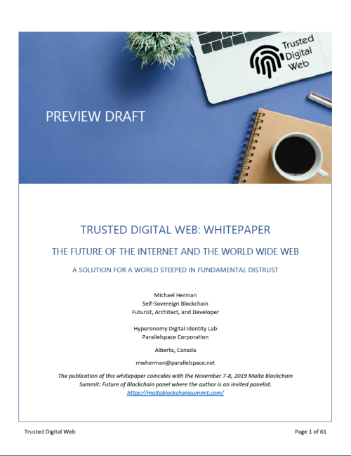 Trusted Digital Web-A Solution for Fundamental Distrust-2019